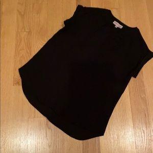 PHILOSOPHY NWOT small sleeveless black blouse